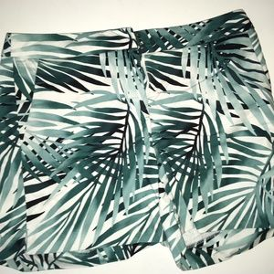 White House Black Market Tropical Shorts